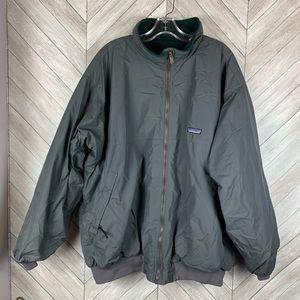 Patagonia men xxl gray winter jacket fleece lined